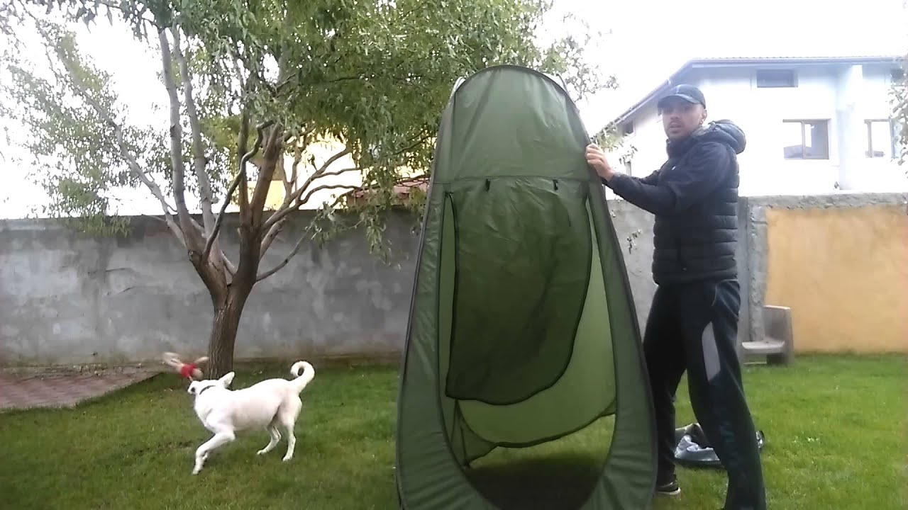 & How to Fold Portable Privacy Pop up Toilet Tent - YouTube