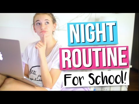 Night Routine For School 2016!