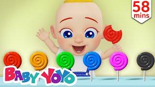 The Colors Song (Candies) + more nursery rhymes & Kids songs - Baby yoyo