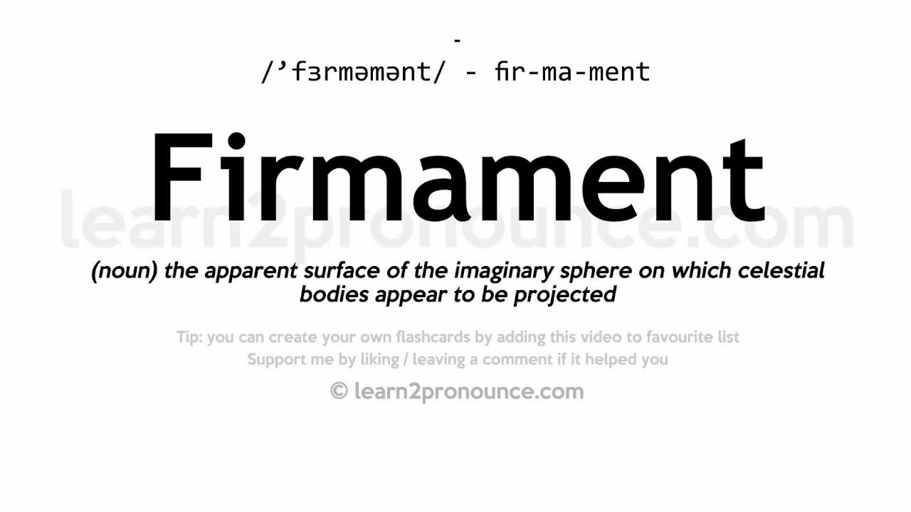 Firmament Pronunciation And Definition