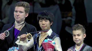 Церемония награждения. Юноши. Финал Гран-при по фигурному катанию 2019/20