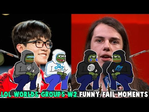LOL WORLDS GROUPS WEEK2 FUNNY/FAIL MOMENTS - 2016 League of Legends