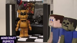 Five Nights at Freddy's fnaf The Office McFarlane toys Minecraft lego construction set unboxing