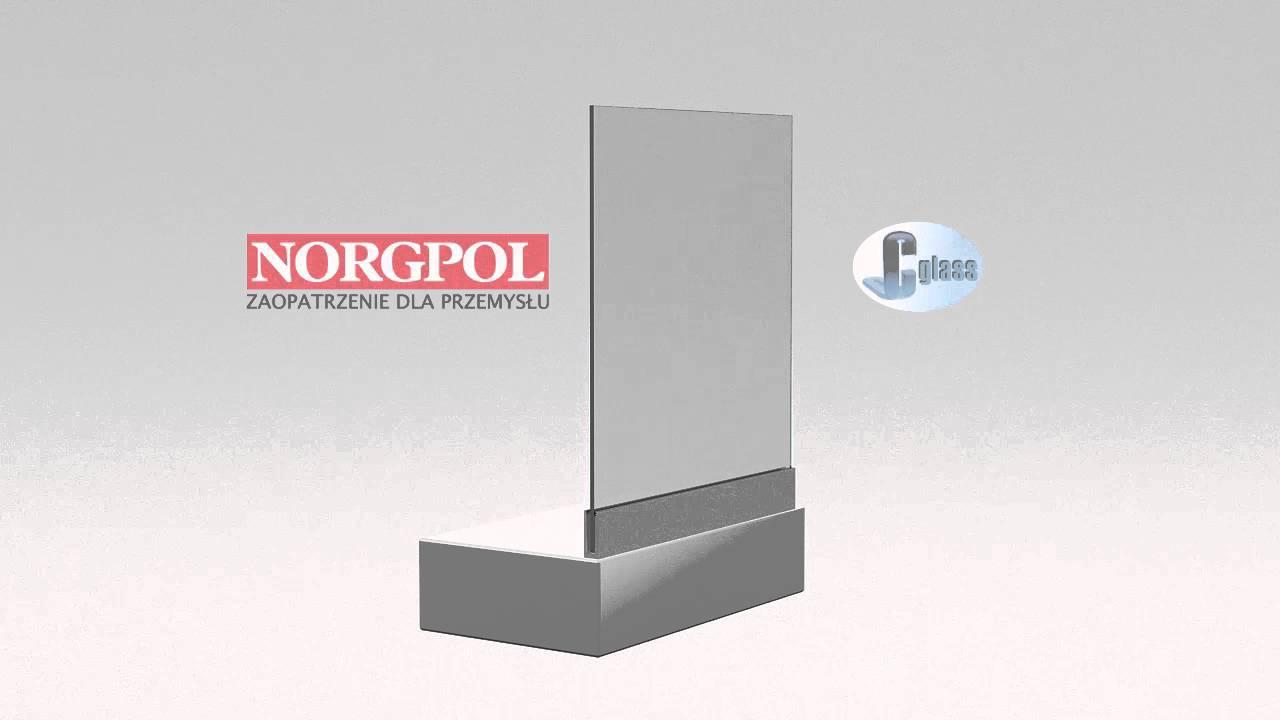 Bardzo dobra CGlass - Balustrada szklana samonośna - montaż podłogowy - YouTube TR72