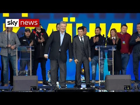 Ukraine's presidential rivals trade insults in TV debate