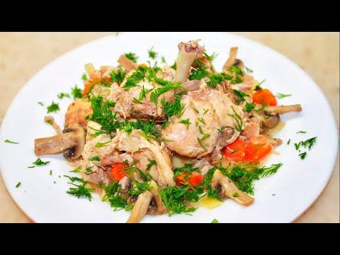 Как приготовить кролика с грибами в сметане в мультиварке
