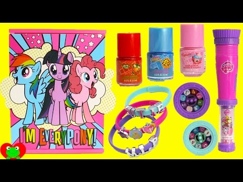 My Little Pony Jewelry Box With Nail Polish and Lip Gloss Surprises