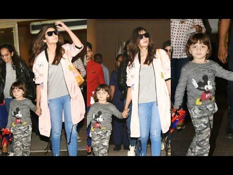Alia Bhatt With Abram Khan And Shahrukh Khan At Airport