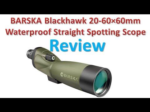 BARSKA Blackhawk 20-60×60mm Waterproof Straight Spotting Scope Review | Best Spotting Scopes.