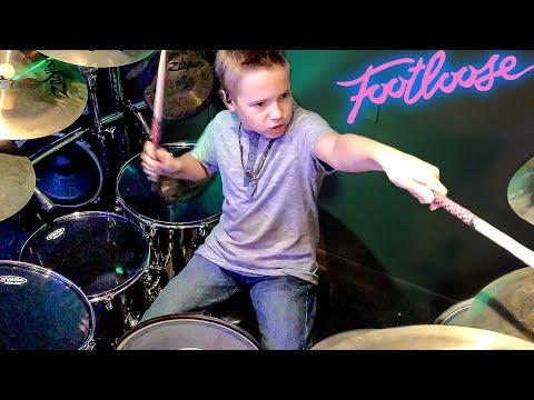 Footloose (Drum Cover) 9 year old Drummer - Avery Drummer Molek