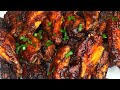 HOW TO MAKE BBQ CHICKEN WINGS | ONYI EMY'S KITCHEN