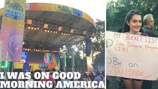 SEEING IMAGINE DRAGONS ON GOOD MORNING AMERICA// Vlog