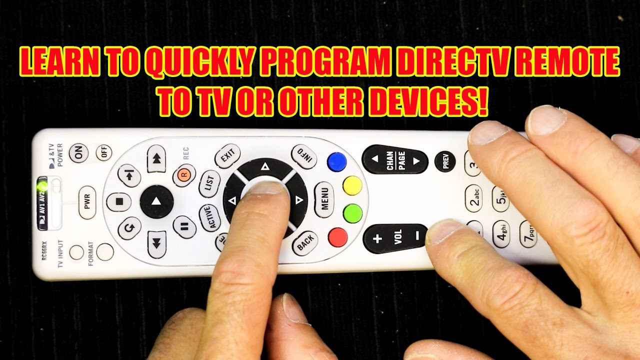 How To Program Your Directv Remote To Operate Your Tv Youtube
