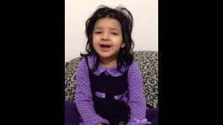 Sehar singing Aloo Kachaloo Mian
