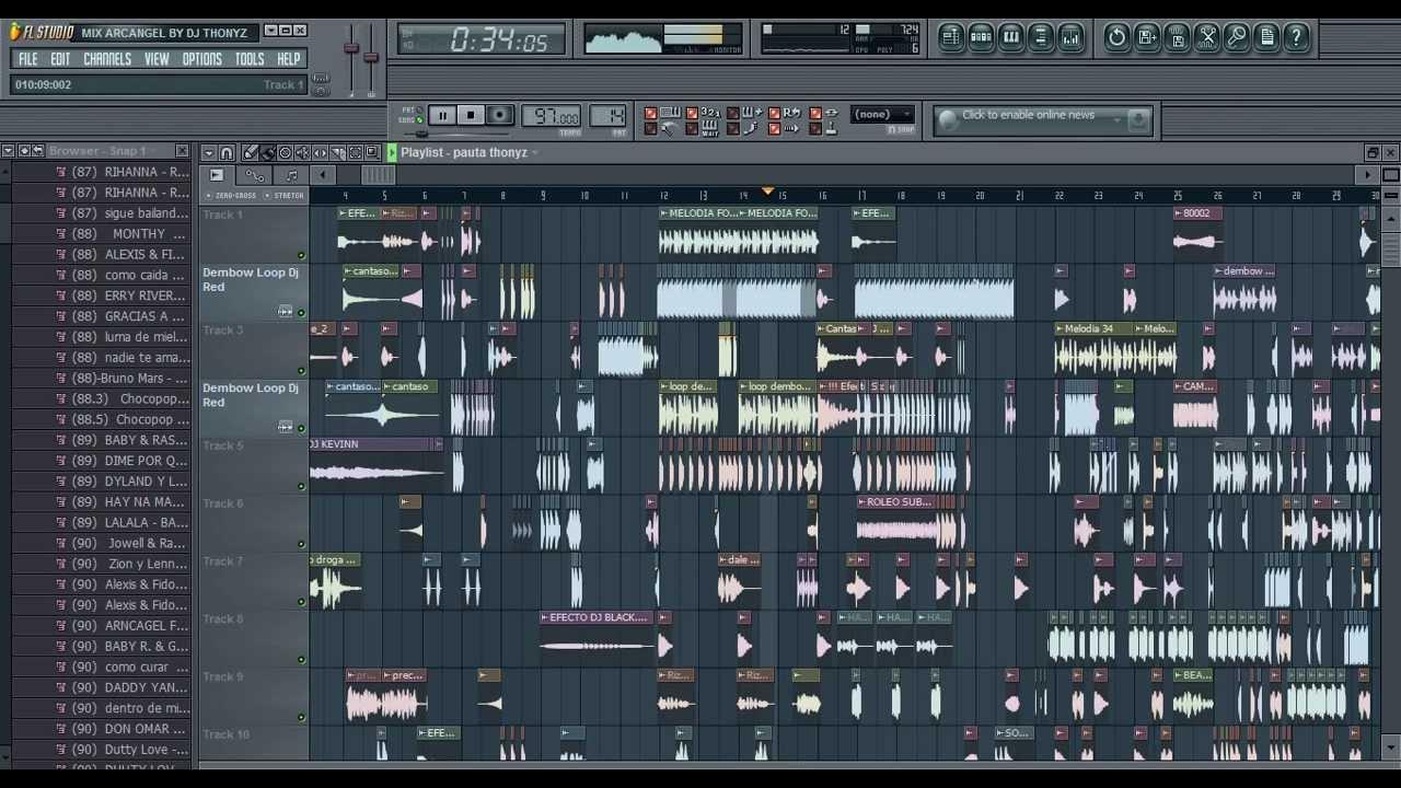 how to mix on fl studio 12