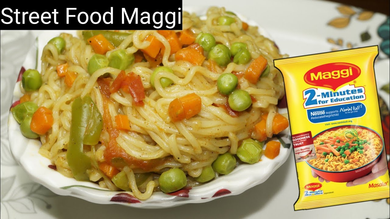 Chinese style Masala Maggi recipe | 5 mins instant noodles recipe | Street style Masala Maggi