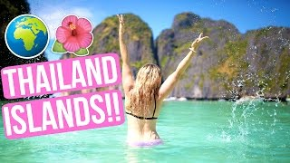 EXPLORING ISLANDS IN THAILAND!!! SNORKELING + SWIMMING!!