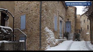 Ardèche - Labastide de Virac sous la neige