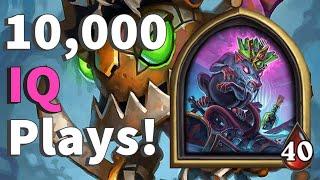 10,000 IQ Plays! - Hearthstone Battlegrounds