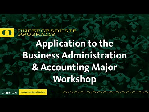 Application to the Business Major Workshop 2016
