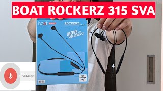 BoAT Rockerz 315 SVA Full Review Unboxing | Boat Rockerz 315 SVA | Best Smart Neckband in 2020