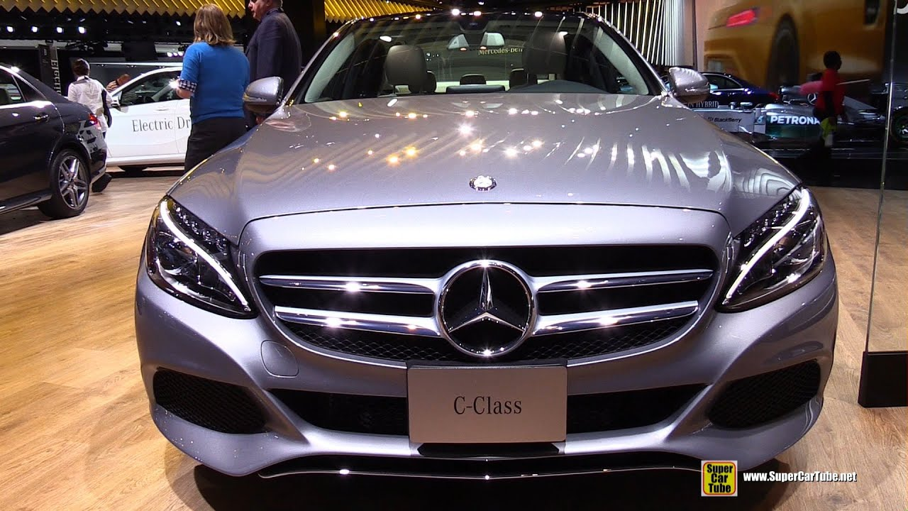 Mercedes C300 4matic >> 2015 Mercedes-Benz C-Class C300 4Matic - Exterior and Interior Walkaround - 2015 Detroit Auto ...