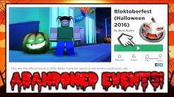 Playing Abandoned Roblox Halloween Events! (Win Prizes?)