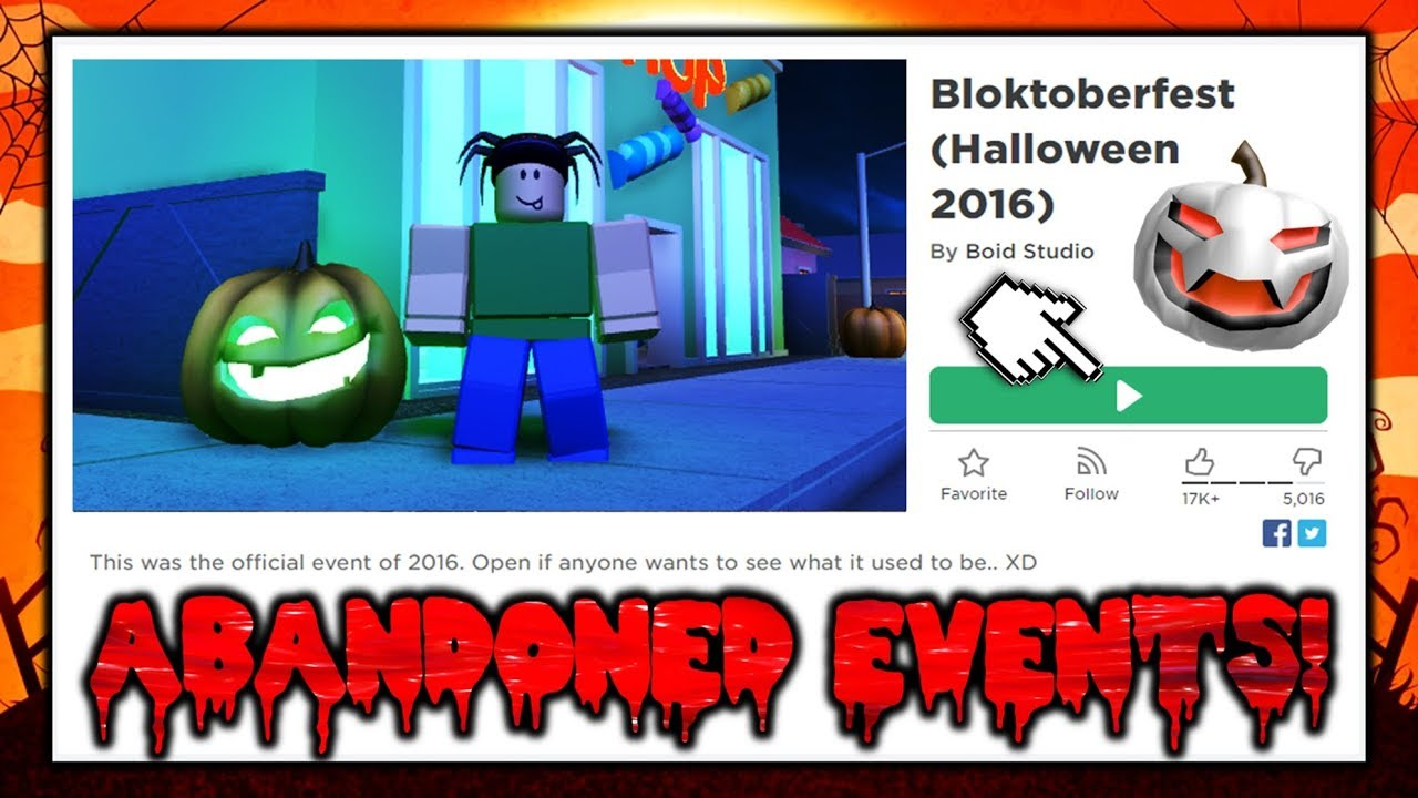 Playing Abandoned Roblox Halloween Events Win Prizes Youtube