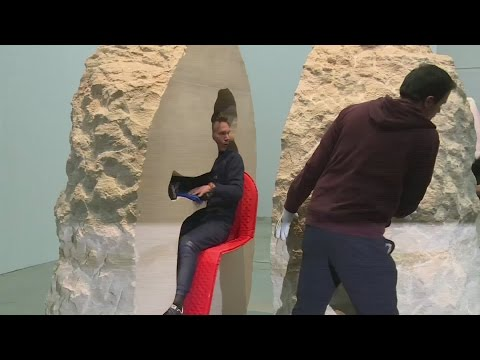 French artist leaves hole in rock after a week