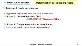 #EP 9 fiscalisé: impôts sur les sociétés (charge non déductible 2/2)  4/5