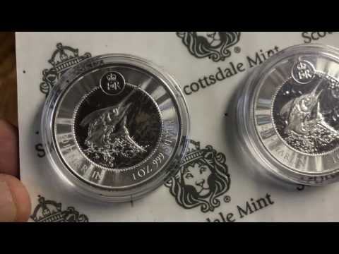 Silver 2017 Cayman Islands coin unboxing Scottsdale mint