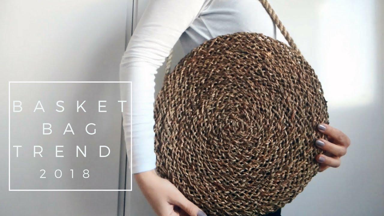 Ikea Hacks 2018 Diy Round Basket Bag Youtube