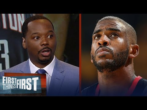 Vincent Goodwill explains his report CP3 demanded trade from Rockets | NBA | FIRST THINGS FIRST