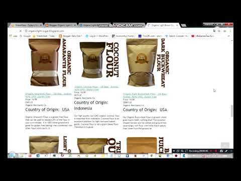 Organic Light Brown Sugar   1lb Bag   Kosher, NON GMO, Gluten Free   organic merchants