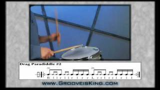 DRUM RUDIMENTS - Drag Paradiddle 2 - Drum Lessons - How to Play Drums