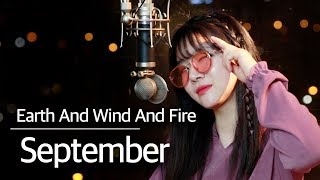 (+3 key up) September - Earth, Wind and Fire cover | Bubble Dia