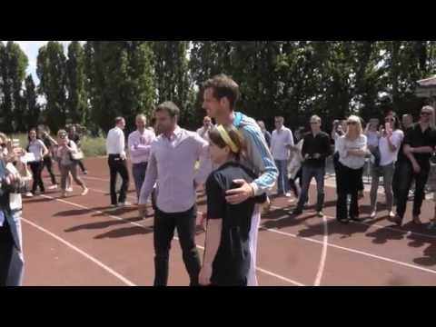 Andy Murray And Grigor Dimitrov In Hilarious Proxy Race