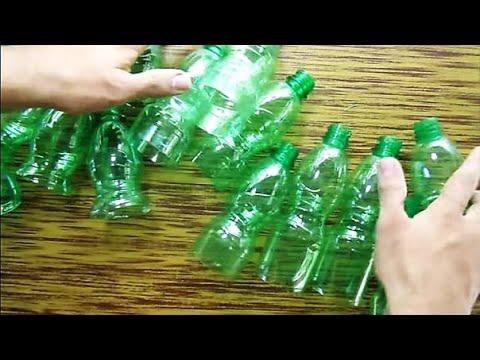 Rbol de navidad hecho de botellas pl sticas - Arboles de navidad manualidades navidenas ...