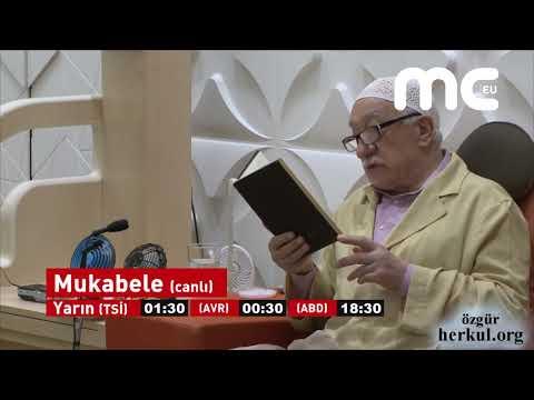 Fethullah Gülen Hocaefendi ile Ramazan mukabelesi MC Tv'de canlı yayınlanacak.