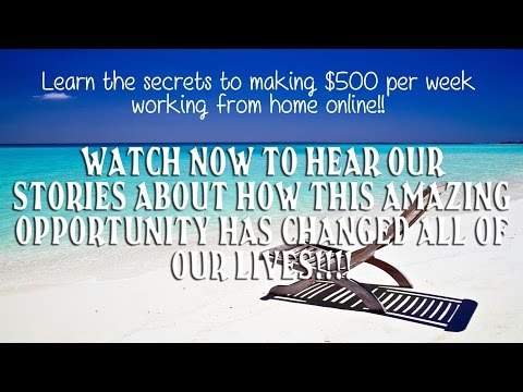 LIVE~~ Learn how to make $500+ per week online!!