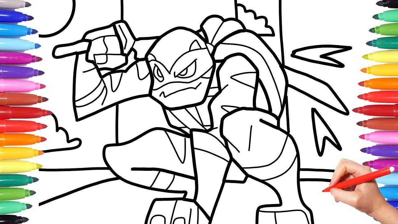 Ninja Turtle Coloring Page - Teenage Mutant Ninja Turtles Drawing ... | 720x1280