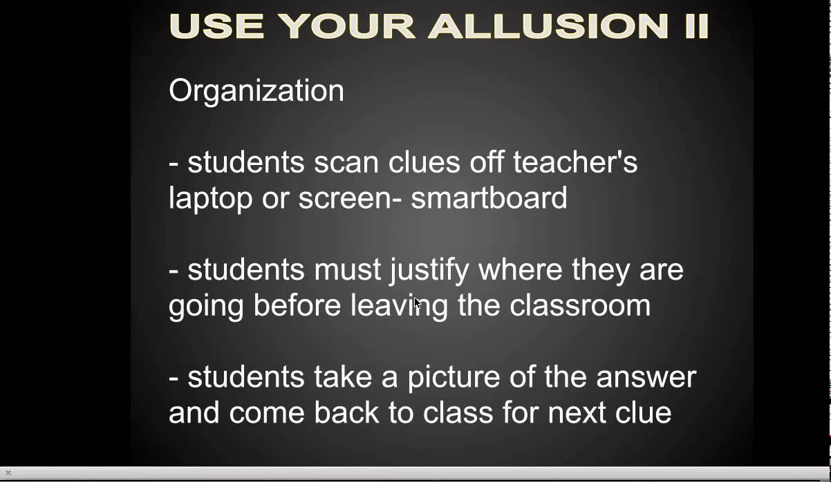 Allusion Lesson Qr Codes Scavenger Hunt Youtube