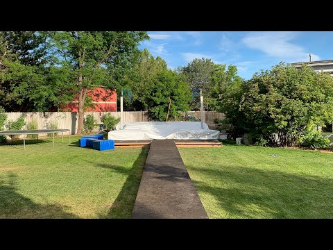 BACKYARD POLE VAULT PIT FROM START TO FINISH!