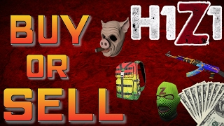 HOW TO BUY AND SELL SKINS IN H1Z1 KOTK!!!