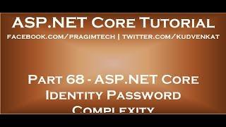 ASP NET core identity password complexity