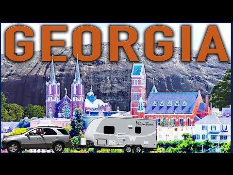Georgia RoadTrip: Macon and Stone Mountain Park RV Living in a Micro Minnie 1706FB Travel Trailer