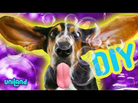 DIY Cute Dog Friendly Homemade Giant Bubbles  | UniLand Kids