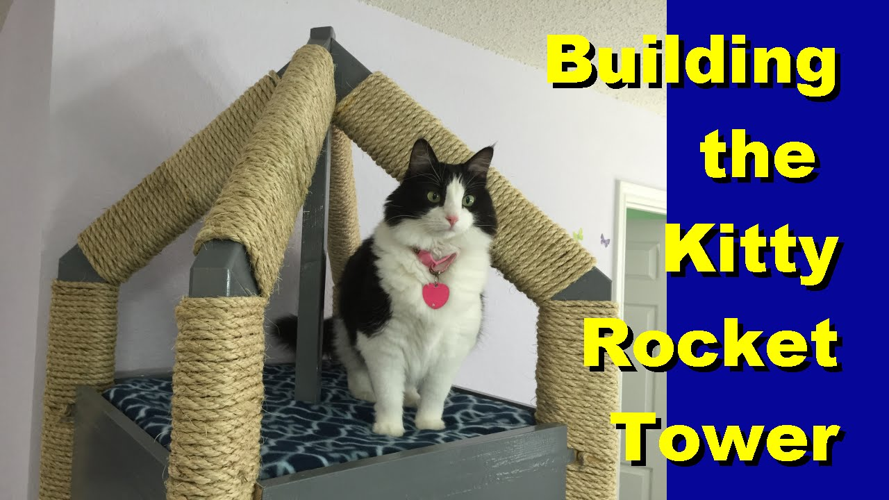 How to build the kitty rocket tower cat tree youtube for How to build a cat perch