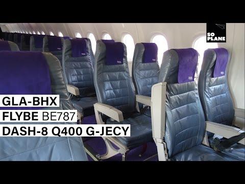 FLYBE | Glasgow To Birmingham | Dash-8 Q400 | Full Flight | Trip Report