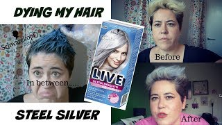 DYING MY HAIR STEEL SILVER FROM SCHWARZKOPF